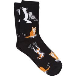 DAVCO Womens Naughty Cats Crew Socks