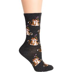 DAVCO Womens Loving Cat Crew Socks