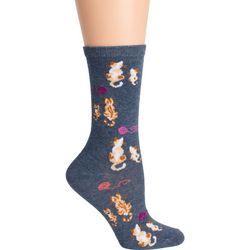 DAVCO Womens Mommy & Kitty Crew Socks