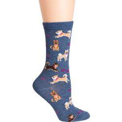 DAVCO Womens Shiba Dog Crew Socks