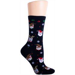 Soxland Meowy Christmas Crew Socks