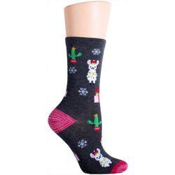 Soxland Holiday Llama Crew Socks