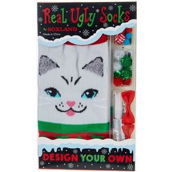 Soxland Design Your Own Ugly Christmas Cat Socks