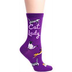 DAVCO Womens Cat Lady Crew Socks