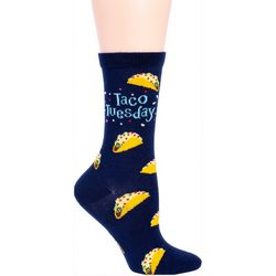 DAVCO Womens Taco Tuesday Crew Socks