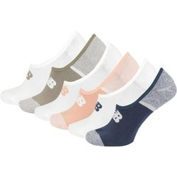 New Balance Womens 6-pk. Colorblock Ultra Low No Show Socks