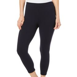 Hue Womens Blackout Solid Wide Waistband Capri Leggings