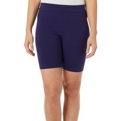 Hue Womens High Waist Cotton Bike Shorts
