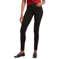 Hue Womens Solid Hidden Pocket Hold It High Waist Leggings
