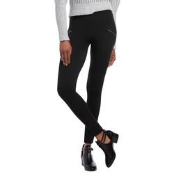 Hue Womens Solid Moto Seamless Leggings
