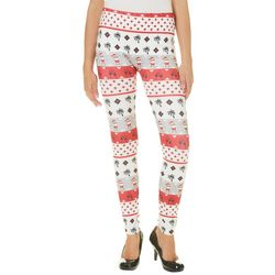Capelli Womens Christmas Santa Panel Print Leggings
