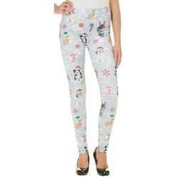 Capelli Womens Christmas Sparkle Print Leggings