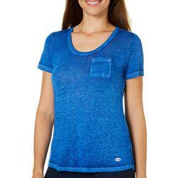 Reel Legends Womens Solid Pocket T-Shirt