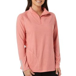 Reel Legends Womens Ultra Comfort Solid Quarter Zip Top