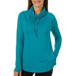 Reel Legends Womens Elite Comfort Solid Knit Cowl Neck Top