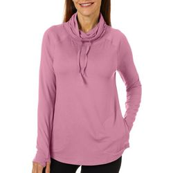 Reel Legends Womens Elite Comfort Solid Knit Cowl Neck Top