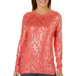 Reel Legends Womens Keep It Cool Foil Detail Top