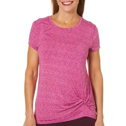 Reel Legends Womens Keep It Cool Knot Front Top