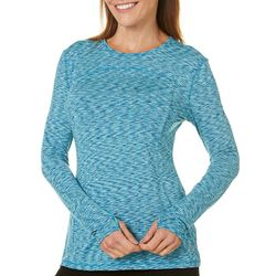 Reel Legends Womens Keep It Cool Space Dye Long Sleeve Top