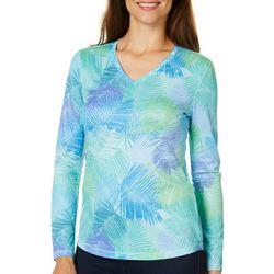 Reel Legends Womens Freeline Palm Spray Long Sleeve Top