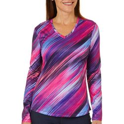 Reel Legends Womens Freeline Diagonal Stripes Top