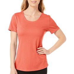 Reel Legends Womens Freeline Solid Shimmer T-Shirt