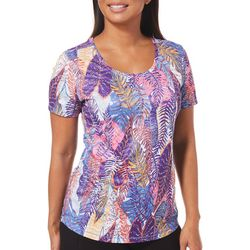 Reel Legends Womens Freeline Palm Variety Short Sleeve Top