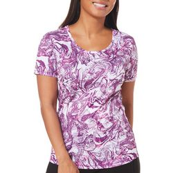 Reel Legends Womens Freeline Agate Print Top