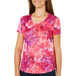 Reel Legends Womens Freeline Camellia Palms T-Shirt
