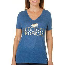 Reel Legends Womens Reel Fresh Lets Get Tropical T-Shirt