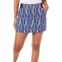 Reel Legends Womens Striped Adventure Skort