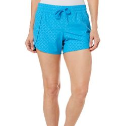 Reel Legends Womens Adventure Solid Debossed Scales Shorts