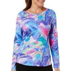 Reel Legends Womens Freeline Rainbow Rock Long Sleeve Top