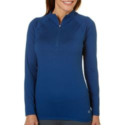 Reel Legends Womens Elite Comfort Zip Neck Top