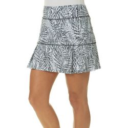 Reel Legends Womens Keep It Cool Textured Palm Pull On Skort