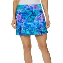 Reel Legends Womens Keep It Cool Tropical Floral Skort