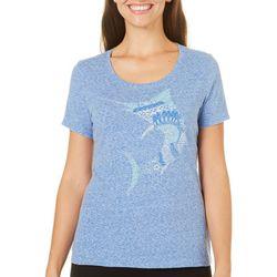 Reel Legends Womens Reel Fresh Zentangle Marlin T-Shirt