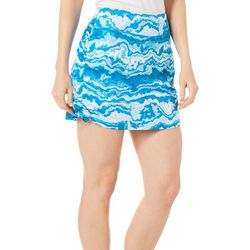 Reel Legends Womens Keep It Cool Agate Blue Skort