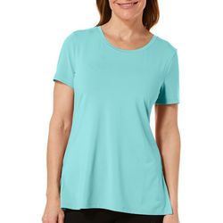 Reel Legends Womens Elite Comfort Solid Short Sleeve Top