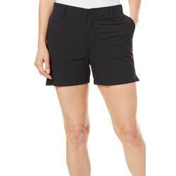 Reel Legends Womens Adventure Solid Comfort Waist Shorts