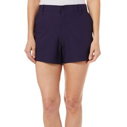 Reel Legends Womens Adventure Solid Comfort Waist Shorts