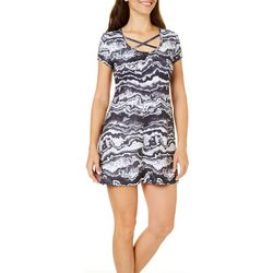Reel Legends Womens Keep It Cool Swirl Print Dress