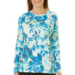 Reel Legends Womens Keep It Cool Painted Leaves Top