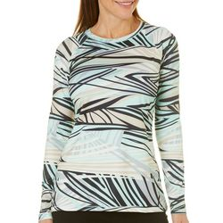 Reel Legends Womens Keep It Cool Abstract Stripes Top