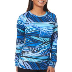 Reel Legends Womens Keep It Cool Abstract Lines Top