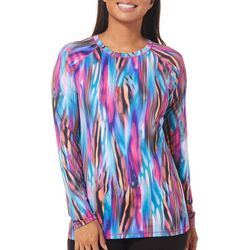 Reel Legends Womens Keep It Cool Colorful Stripes Top