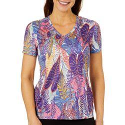 Reel Legends Womens Reel-Tec Palm Variety Short Sleeve Top