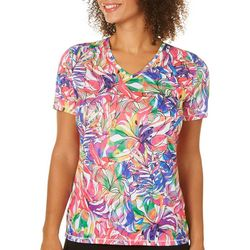 Reel Legends Womens Reel-Tec Tropical Rainbow Top