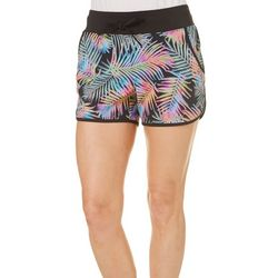 Reel Legends Womens Keep It Cool Rainbow Palm Leaf Shorts