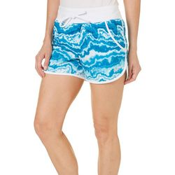Reel Legends Womens Keep It Cool Swirl Print Shorts